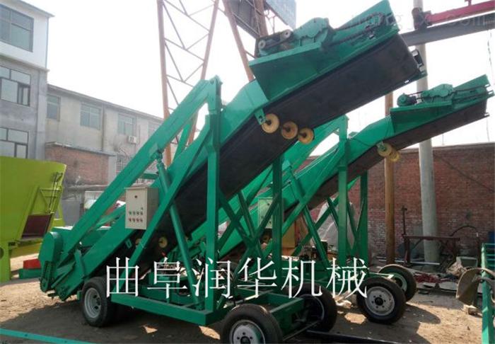 農場黃儲草料挖掘機 高空飼草升降式取料機