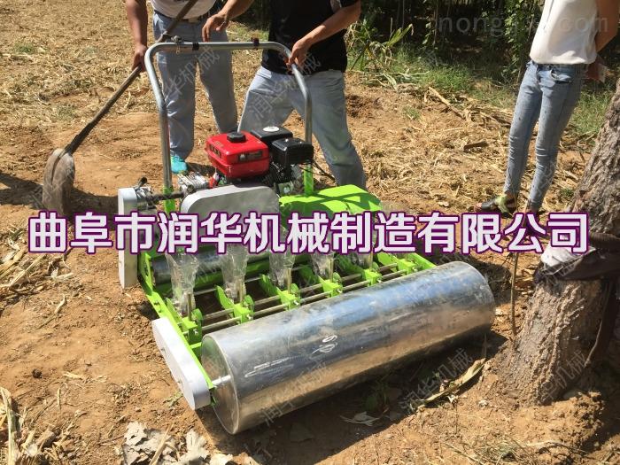 自走式汽油机蔬菜播种机 手推韭菜穴播机