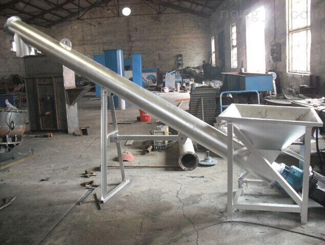 加厚钢管木屑输送机 小型塑料颗粒机提升机