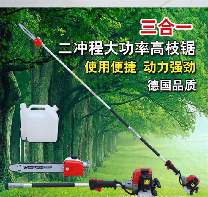 园林修枝高枝锯 汽油机带伸缩式树木修剪机
