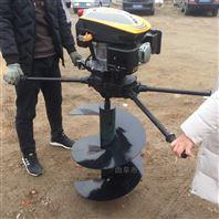 葡萄立柱埋桩机价格 手推柴油挖坑机