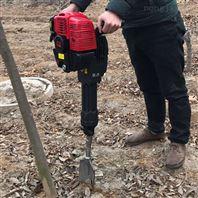 手提式树木移苗机 汽油链条挖树机