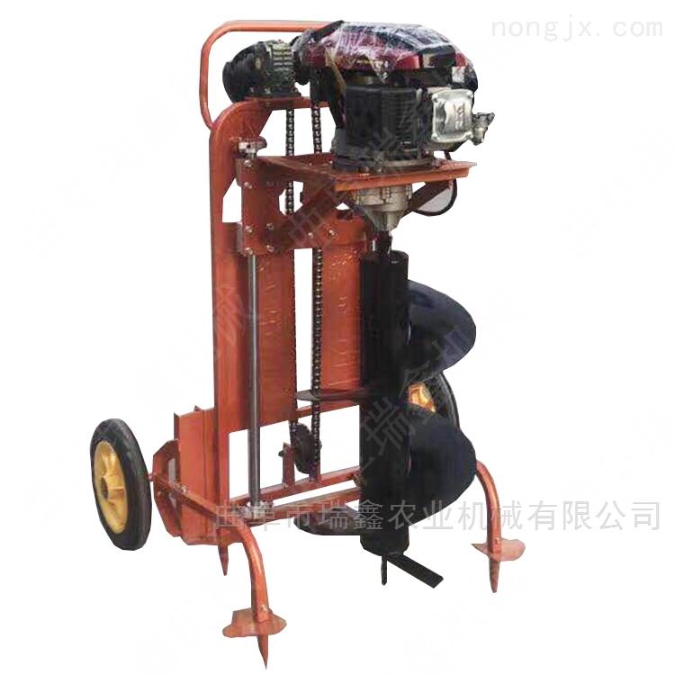 双人操作大功率植树机 手持式汽油挖坑机