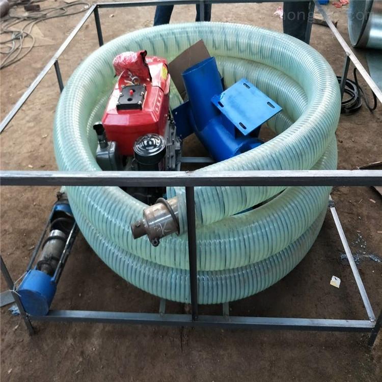 汽油機帶動吸糧機 機動三輪側掛式抽糧機
