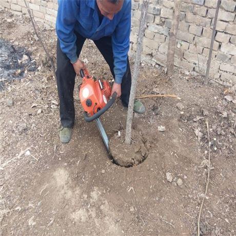 挖樹機單人操作 鏈條鋸樹斷根機 起樹機視頻